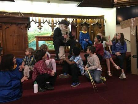 Scott Macauley presents at First Baptist Church, Melrose, Mass.